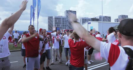 crowd together : Football fans of Poland