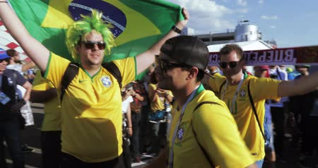 brasil : Musicians before the match