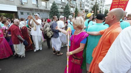 procession : Ratha Yatra in city of Dnepr