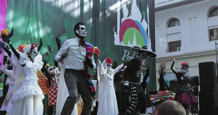 lidská hlava : Mexican Carnival Celebration of the dead