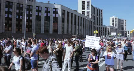 participants : The protesters chant Russia will be free