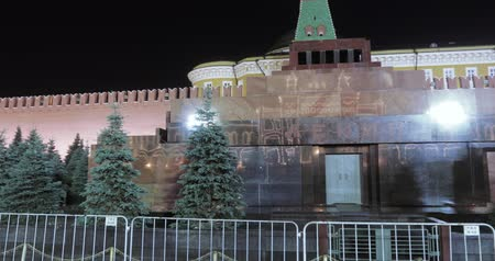 lenin : Lenins Mausoleum at night