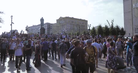 muhalefet : Unauthorized rally against pension reform Stok Video