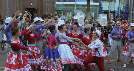 tverskaya : Dancing number in the style of Hipsters Stock Footage