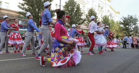 moscow : Dancing number in the style of Hipsters Stock Footage