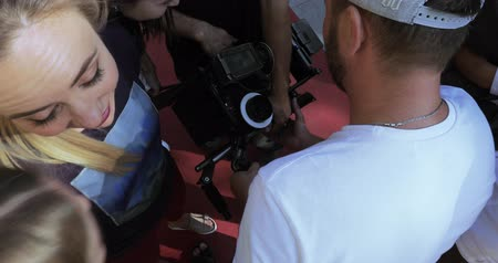 sinematografi : Shooting an advertising video Stok Video