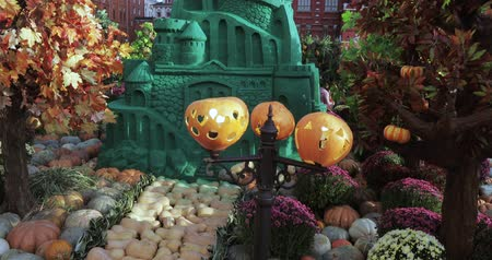 moscow : Street autumn gastronomic festival Golden Autumn Stock Footage