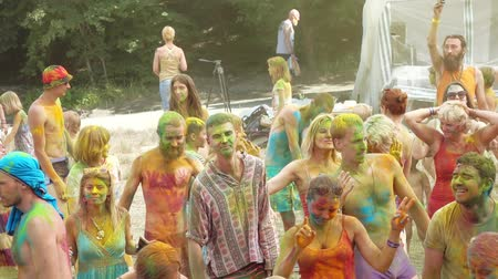ethnography : Holi Colors Festival Stock Footage