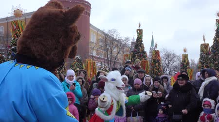 Folk holiday Maslenitsa Стоковые видеозаписи