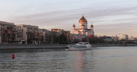 View of the Cathedral of Christ the Savior from the other bank of the Moscow River