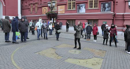 red square : Zero kilometer in Moscow