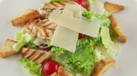 salad : Caesar salad with grilled chicken, cherry tomatoes, croutons
