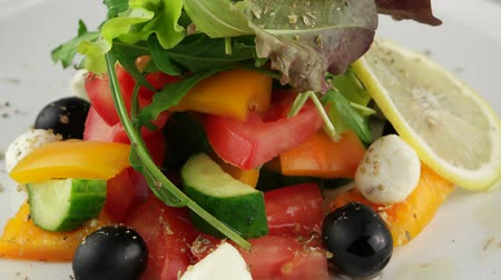 ocet : Fresh Greek salad, closeup