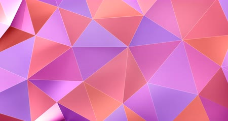 geométrico : 3d colorful abstract geometric polygon surface motion background loop 4k
