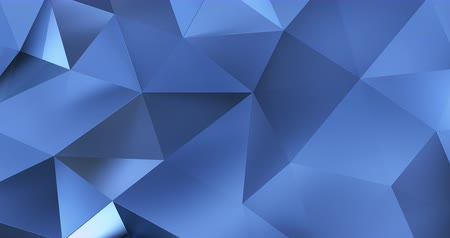 geométrico : 3d blue abstract geometric polygon surface motion background loop 4k Vídeos