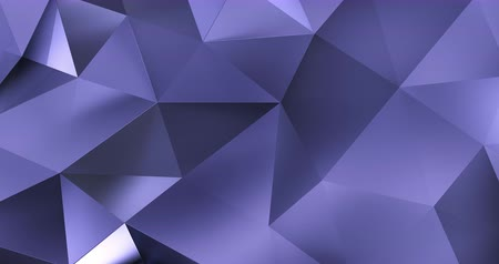 geométrico : 3d violet abstract geometric polygon surface motion background loop 4k Vídeos