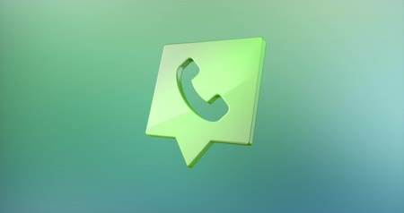 faks : Animated Phone Message Color 3d Icon Loop Modules for edit with alpha matte