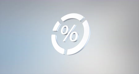 infografik : Animated Radial Chart Percent White 3d Icon Loop Modules for edit with alpha matte