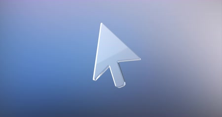 kurzor : Animated Cursor Glass 3d Icon Loop Modules for edit with alpha matte