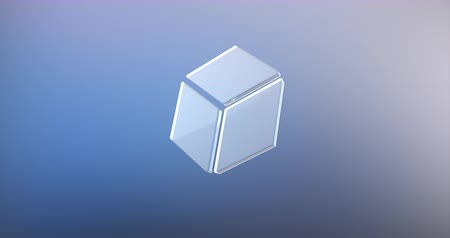 kocka : Animated Cube Glass 3d Icon Loop Modules for edit with alpha matte