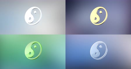 spiritueel : Animated Yin 3d Icon Loop Modules bewerken met alfa matte