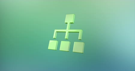 hierarchy : Animated Hierarchy Network Color 3d Icon Loop Modules for edit with alpha matte