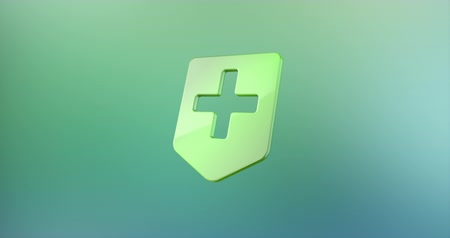 przychodnia : Animated Medical Map Pin Color 3d Icon Loop Modules for edit with alpha matte