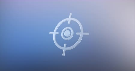 crosshair : Animated Target Crosshair Glass 3d Icon Loop Modules for edit with alpha matte