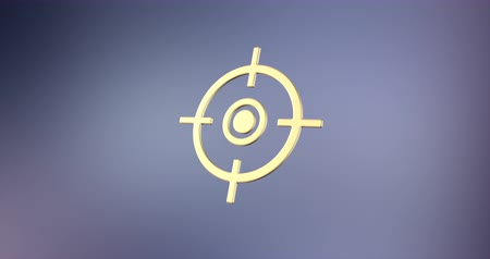 crosshair : Animated Target Crosshair Gold 3d Icon Loop Modules for edit with alpha matte
