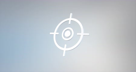 crosshair : Animated Target Crosshair White 3d Icon Loop Modules for edit with alpha matte