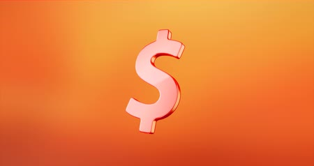 impostos : Animated Dollar Sign Red 3d Icon Loop Modules for edit with alpha matte