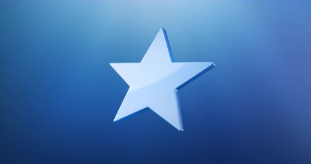 five stars : Animated Star Blue 3d Icon Loop Modules for edit with alpha matte