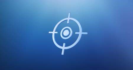 crosshair : Animated Target Crosshair Blue 3d Icon Loop Modules for edit with alpha matte
