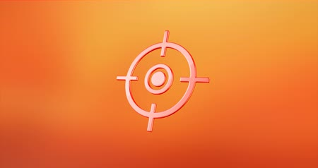 crosshair : Animated Target Crosshair Red 3d Icon Loop Modules for edit with alpha matte