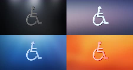 акт : Animated Wheelchair Disabled ISA Access S 3d Icon Loop Modules for edit with alpha matte