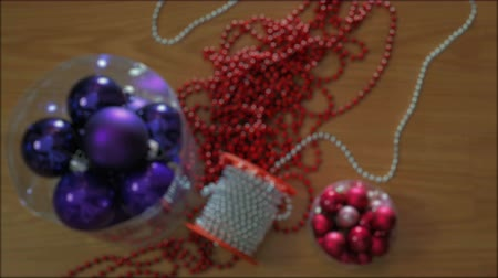 Christmas decorations appear quickly on floor Dostupné videozáznamy