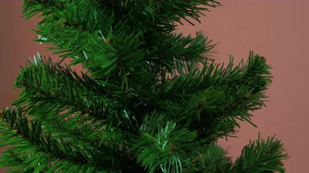 Christmas tree quickly appears in the frame and disappears Dostupné videozáznamy