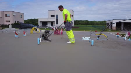 acabamento : concrete floor polishing aerial view