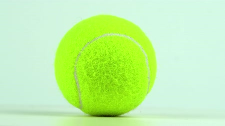 rotational : rotating tennis ball, closeup, slow motion 4K video Stock Footage