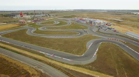 ходунки : AERIAL VIEW. Carts Racing During Russian Championship