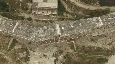 bydlení : AERIAL VIEW. Frame Of Unfinished Building Outside City