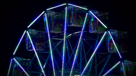 maior : Multicolour light `ferris Wheel fun fair at night