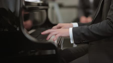 Musician playing the piano