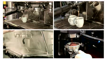 bung : Collage of coffee in the coffee machine
