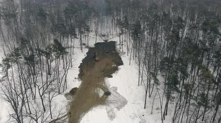 günlüğü : Deforestation and clearing of the area in winter