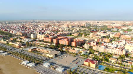 torre sineira : Valencia from the birds-eye view. Aerial view. The magnificent panorama of the city from the altitude. Valencia is a tourist city in the morning