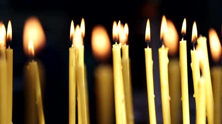 запомнить : Yellow candles that burn in the Church. Background