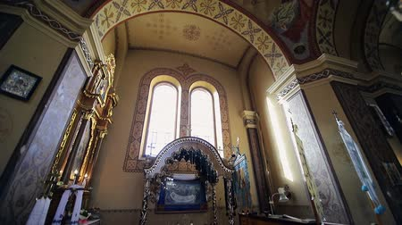 bernini : The interior of the old church. Scenery in the church Stock Footage