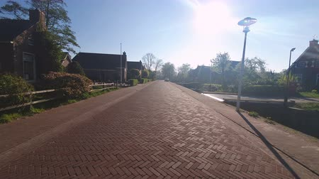 nederlands : Red cobblestone street in the traditional village of Holland