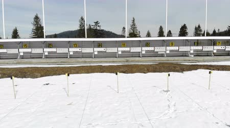 proiettili : Biathlon. Panorama of targets for shooting during the biathlon. The numbering of the targets